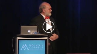 Futurist Thomas Frey speaking at Mountain Connect on the Futue of Living and Communities.